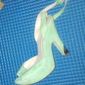BCBG Mint Suede Green Sandles
